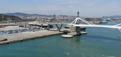 Barcelona cityscape (Susannaphotographer) Tags: barcelona cityscape city cities spain espana spagna sea seaview harbour porto landscape view panorama cruise ponte bridges bridge skyline buildings harbours