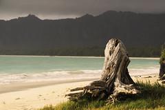 Bellows beach (febeks) Tags: hawaii bellows beach bole sand ocean water mountains exposure sony