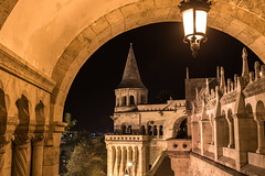 Fisherman's Bastion by Night (lncgriffin) Tags: budapest hungary magyarorszg europe europa fishermansbastion danube pest middleages castlehill architecture arches neogothic neoromanesque longexposure nightphotography travel nikon d750 nikkor 24120mmf4gvr