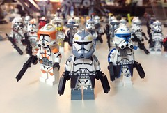 Commanders (Johnny-boi) Tags: lego star wars minifigure custom clone trooper army customs wolffe cody rex commander captain squad 2016 collection