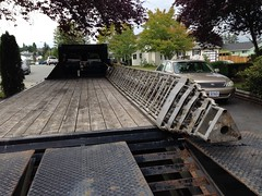 ANR Technologies - 5th Project - Day 10 (Started loading towers and antennas onto a flatbed trailer.) - July 2016 (Earla Riopel Sports & Events Photo Collections) Tags: albertriopel amateurradios hamradios flatbedtrailer langley antennas towers transportation transport