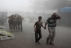 Conflicto Siria (Seal Informativa) Tags: topshots horizontal middleeast civilwar revolt victim civilianpopulation bombardment airraid dustcloud casualty idlib syria