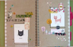 Smash Book #1 (Lydia's Post) Tags: smashbook journal artjournal pages cats catart illustration collage paperart
