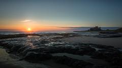 A new day (Aidan Mincher) Tags: bamburghcastle bamburgh castle shore sand rocks sun sunrise beach northeast ukeastcoast coast uk landscape canon5dmk3