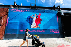 Air France (Always Hand Paint) Tags: airfrance airfrancecomplete b154 kristamlindahl ooh outdoor colossalmedia alwayshandpaint skyhighmurals advertising colossal handpaint mural muraladvertising streetlevel photorealism traveltourism colorful