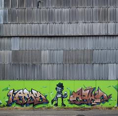 Fais pas de Vagues ! (HBA_JIJO) Tags: streetart urban graffiti art france hbajijo wall mur painting letters peinture lettrage lettres lettring writer spray kase 76 arko district76 breaking bad walter white square drug gun flickrunitedwinner
