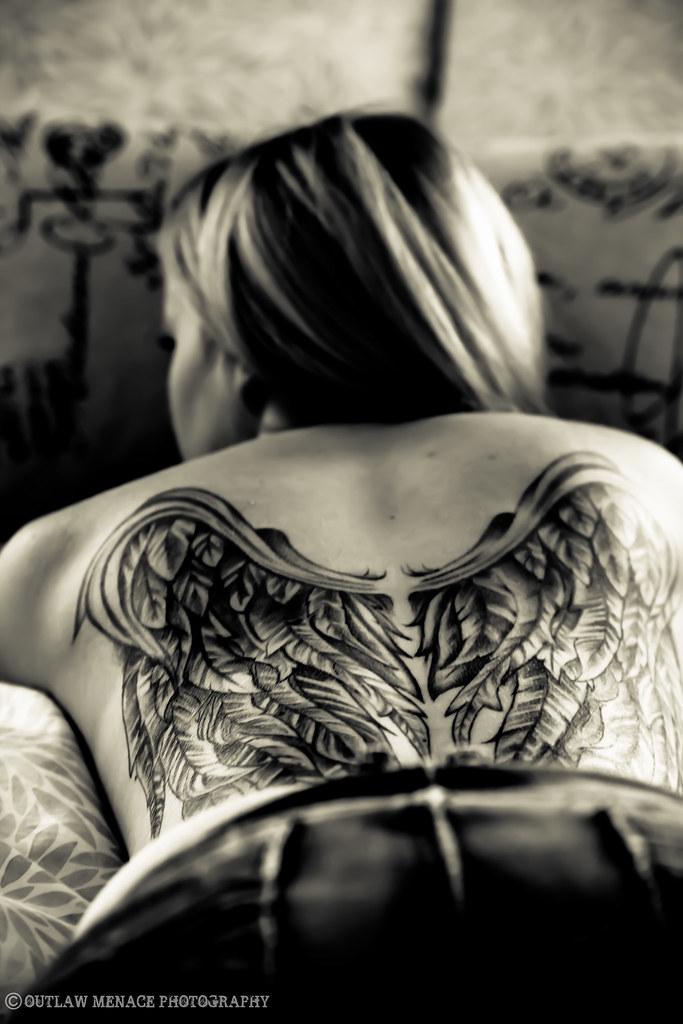 Tatoo angel ass