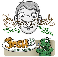 Store Facelift (Question Josh? - SB/DSK) Tags: illustration comics store comic graphic flash josh header question online yfm questionjosh bigcartel yourfathersmustache