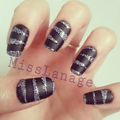 31 day challenge: tape mani' (MissLanage) Tags: southernlights glitternails modelsown mattenails 31daychallenge flickrandroidapp:filter=none nailartchallenge tapemanicures