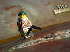 Rustarge (Legomania Customs) Tags: red black color green dark rust colorful lego fig tan mini damage ba minifig darkred 3100 minifigure darkgreen apoc darktan ppsh brickarms apocalego rustarge