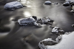 Packers Falls (Eric Gendron Photography) Tags: longexposure winter snow motion cold ice nature water canon river season lens landscape flow coast waterfall scenery stream durham january scenic newengland newhampshire falls packers le nd lamprey seacoast hoya lseries 1635mm packersfalls 9stop 5dmarkii