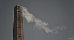Smokestack | 025/365 2013 (mfhiatt) Tags: sky bricks iowa steam smokestack day25 desmoines day25365 3652013 mfhiatt 2013inphotos michaelfhiatt 365the2013edition 25jan13