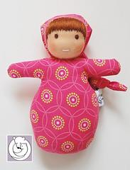 Mini Baby Pink (Polar Bear Creations Dolls) Tags: toy natural waldorf babytoy waldorfdoll firstdoll minibaby softtoytoy waldorfpuppe stoffpuppe waldorfinspired steinerpuppe