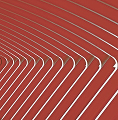 lines & curves (vil.sandi) Tags: red valencia lines spain curves processing rhythm santiagocalatrava ciudaddelasartesylasciencias museodelascienciasprincípefelipe