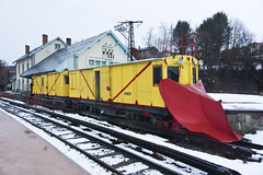 La quitanieves del viejo Tren Amarillo / The Snowplow Machine of the Old Yellow Train