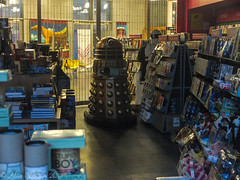 Early Morning Dalek (alancookson) Tags: shop fuji bbc drwho dalek exterminate x10