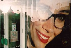 Smile (Timm Ranson) Tags: reflection film window smile 35mm glasses shopwindow specsavers fujisuperia
