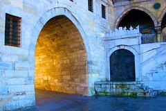 Archway Istanbul (podmorelarry) Tags: street light stone turkey golden arch wroughtiron istanbul mosque archway metaphor spicemarket goldenlight rushtempashamosque