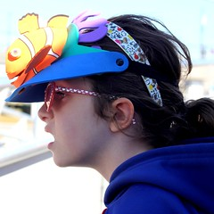 Nemo Hat Girl (Marbeck53) Tags: trip travel vacation girl female canon person eos newjersey nemo shades human capemay visor whimsical preteen 60d marbeck53 markriesenbeck