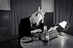 A Kingdom For A Horse pt. II (wirklicht.) Tags: horse film typewriter noir mark cigar suit depression whisky steed typewrite sparklehorse linkous writinge