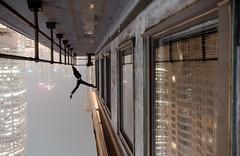 Hung up (tomms) Tags: rooftopping ballet hungup urban city downtown upsidedown vertigo handstand yoga donaldtrump