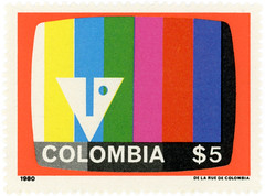 Colombia postage stamp: television_screen