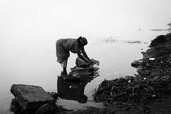 Misty Morning (bmahesh) Tags: morning people blackandwhite woman india mist canon boat fishing fisherman canon5d everyday mahesh washing tamilnadu cwc mistymorning canonef24105mmf4isusm chengalpet canoneos5dmarkii dailyduty chennaiweekendclickers kolavailake bmahesh cwc230