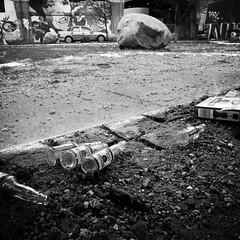 Public Park Pleasure in mono (Jens Rost) Tags: copenhagen bottles empty leer drunkenness nrrebro decline kopenhagen kbenhavn vide druk bottiglie flessen bouteilles flaschen garrafas vazio leeg vaco embriaguez vuoto verfall botellas verval dcadence nordrefasanvej tomme flasker butelki decadncia ie  ivresse    tyhj decadimento  130206 ubriachezza decaimiento pullot bo forfald  sarholuk  pusty    pijastwo rme dronkenschap     prchnica  betrunkenheit p1470857 glenteparken rappeutuminen juoppous