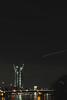 Neubau der Europäischen Zentralbank (S. Ruehlow) Tags: bridge night river nacht frankfurt brücke fluss altstadt ostend frankfurtammain neubau brücken langzeitbelichtung ezb europäischezentralbank rivermain altemainbrücke langzeitaufnahme mainkai nächtlichebeleuchtung
