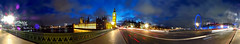 Westminster Bridge at Night - Panorama (Anatoleya) Tags: bridge panorama london westminster night evening big long exposure traffic ben parliament le gc100 anatoleya samsunggalaxycamera ekgc100