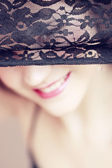 Peek-a-boo! (PinkPetra) Tags: carnival portrait baby white black sexy smile canon fun happy hungary mask lace petra humor 85mm humour cheeky smiley boudoir masquerade seduction 18 lacy seductive hungarian 3p horvth portr 2013 heni 1100d pinkpetra pinkpetraphoto pinkpetraphotography