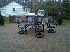 After - Outdoor kitchen and patio (The Sharper Cut Landscapes) Tags: landscaping maryland patio paver charlescounty landscapedesign porttobacco outdoorkitchen entertainmentarea londoncobble landscapecompany builtingrill belgardhardscapes bulloutdoorproducts