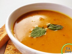 mint-infused roasted pumpkin bisque (the_garden_slug) Tags: pumpkin soup restaurant singapore events diner slug catering soupoftheday wwwthegardenslugcom thegardenslug fitfood