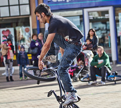4 (snappitt photography) Tags: family people kids fun dance bmx candid streetphotography bikes belfast entertainment acrobatics cornmarket snappitt backinbelfast