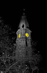 Winter Night in Philadelphia (DigitalLUX) Tags: city winter light urban detalle building tower clock philadelphia yellow buildings evening interesting arquitectura edificios nikon cityscape edificio cityscapes ciudad landmark clocktower amarillo philly ocaso fascinating urbanlandscape paisajeurbano