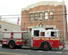 E260e FDNY Engine 260, Ravenswood, Queens, New York City (jag9889) Tags: county city nyc house ny newyork building station architecture truck fire engine company queens astoria borough firehouse fdny department firefighters longislandcity 2010 seagrave 260 ravenswood bravest queensbridge e260 engine260 y2010 foam81 jag9889