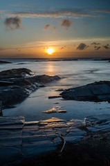 On The Rocks (intrazome) Tags: ocean light sunset sea england cloud sun reflection nature weather landscape nikon cornwall d5100