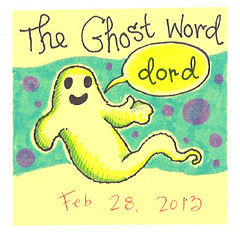 The Ghost Word (pageofbats) Tags: ghost february postitnote dord