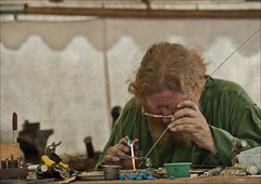 The jeweler (marykpics) Tags: silver gold cut polish flame copper sterling renaissancefaire flange buffing jeweler handtools jewelersrouge
