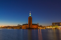 "Blue Hour on Stadshuset Stockholm City Hall ""EXPLORE #62"" (Yoan Esquer) Tags: city blue sunset hall sweden stockholm hour stadshuset"