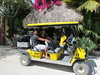 golf cart TAXI on HOLBOX ISLAND
