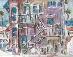 VENICE ALLEYS OF THE 1960S (roberthuffstutter) Tags: california ca venice by watercolor essays realestate originalart venicebeach watercolors westcoast photostream alleys calink beachcities aptbldgs huffstutter historyofvenice 1960scalifornia robertlhuffstutter watercolorsbyhuffstutter rlhuffstutter southerncalifornia1960s beachtowns1960s essaysbyrlhuffstutter alleyresidentialareas venicebeach1960s artbyrlhuffstutter lifeinanalley alleylifestyles hangingoutinvenice historyofsantamonica huffstuttersflickrphotos picturesbyhuffstutter essayaboutwatercolorbyrlhuffstutter originalsavailable california1960s rlhuffstuttersart californiabeacharchitecure watercolorofvenice 1960svenice paintingsofvenice southbaywatercolors southbayscenes signedcopiesavailable watercolorsofsouthbay strandwatercolors huffstutterssouthbayart