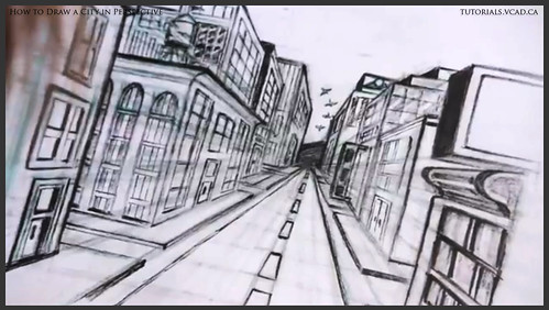 Learn How To Draw City Buildings In Perspective 042 A Photo On