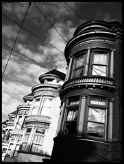 ladies (eb78) Tags: sf sanfrancisco california ca blackandwhite bw monochrome architecture haightashbury grayscale victorians 4g greyscale upperhaight iphone iphoneography uploaded:by=flickrmobile flickriosapp:filter=nofilter