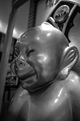 Billiken (501622731plus1) Tags: blackandwhite bw film monochrome statue japan nikon  osaka f2 nikkor umeda  billiken photomic neopanacros100 24mmf28nc