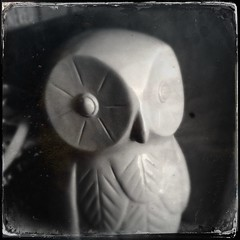 Owl (welovethedark) Tags: owl iphone ceramicowl hipstamatic
