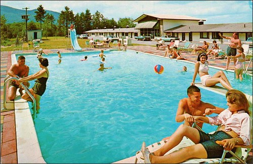 travel vacation vintage advertising kitsch roadtrips pools 1950s postcards leisure summertime hotels 1960s poolside advertisements inns motels midcentury lodges motorinns