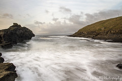Cliffs at Bundoran Beach (linda_mcnulty) Tags: ocean longexposure ireland sea cliff seascape beach water rock strand canon landscape flow bay shore inlet donegal bundoran donegalbay rougey
