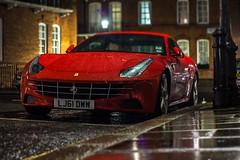 Ferrari FF II (TS Multimedia) Tags: auto red italy london car rain canon photography italian automobile super ferrari exotic beast dslr ff supercar v12 t3i 600d