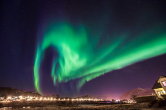 A Twirling Girl You Are, Aurora! (Frontbroiler) Tags: light sky house norway rock night norge heaven skies a